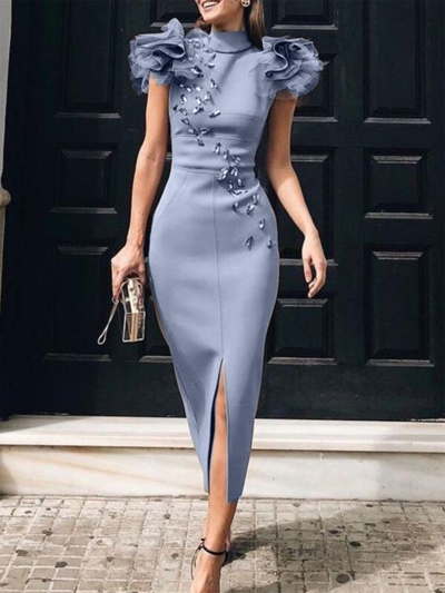 Bodycon Elegant Cocktail Midi Dress