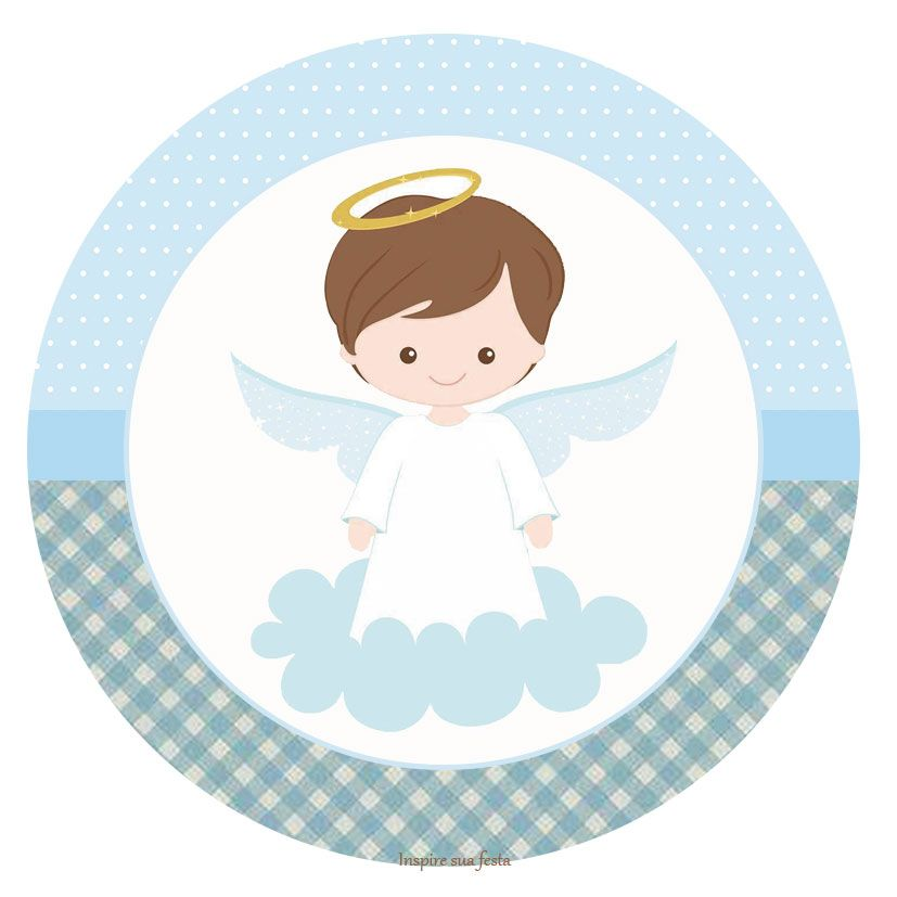 Batizado Menino Kit Festa Gratis Para Imprimir Lembrancinhas