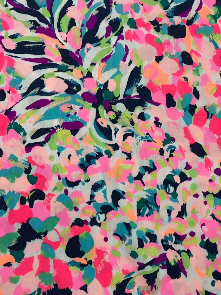 f006ebf95715a2 Unwashed section of authentic Lilly Pulitzer fabric. 1 Yard (36