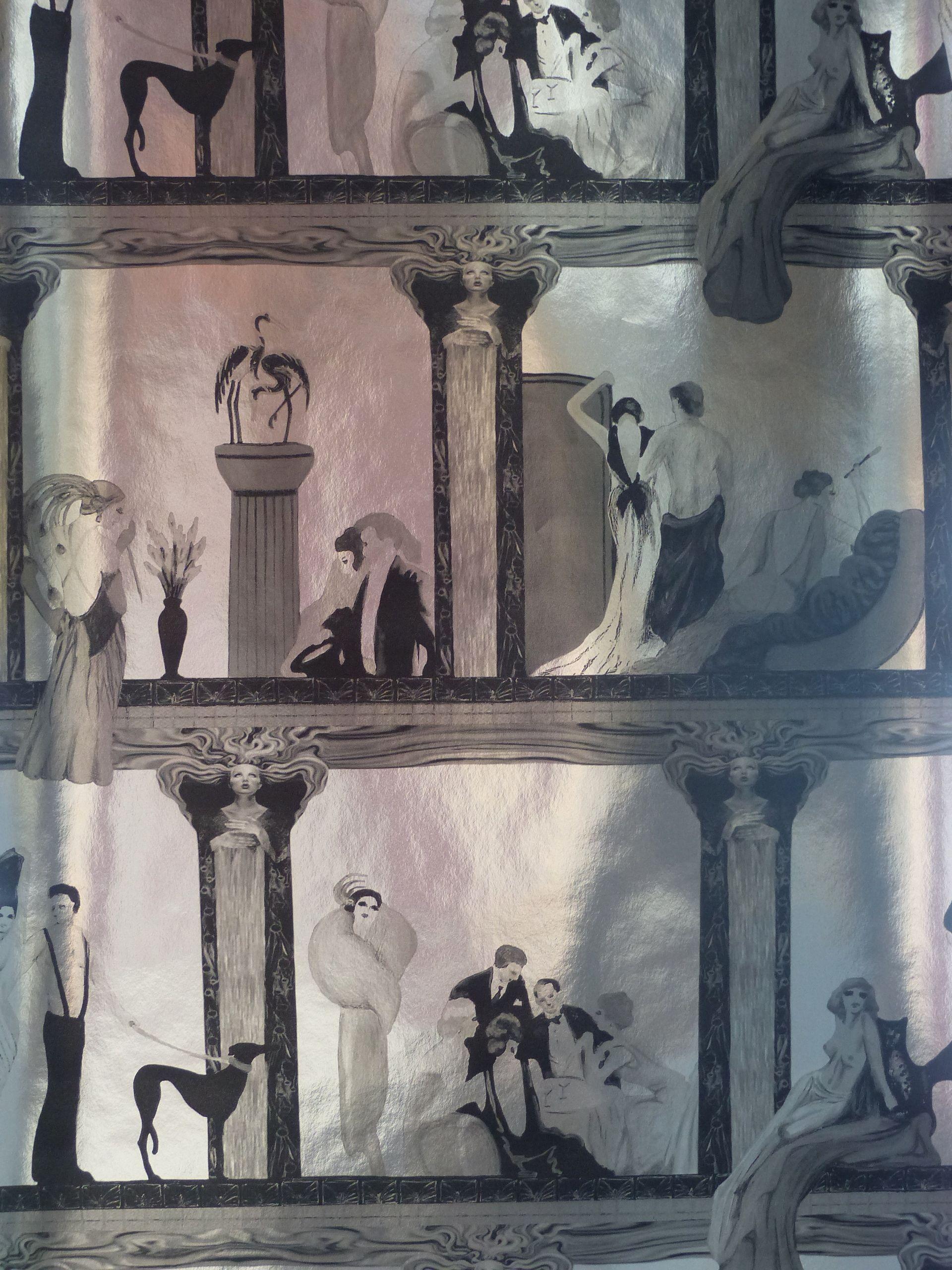 silber #silver #Tapete #Grandezza #Charleston #Klassik #klassisch ...