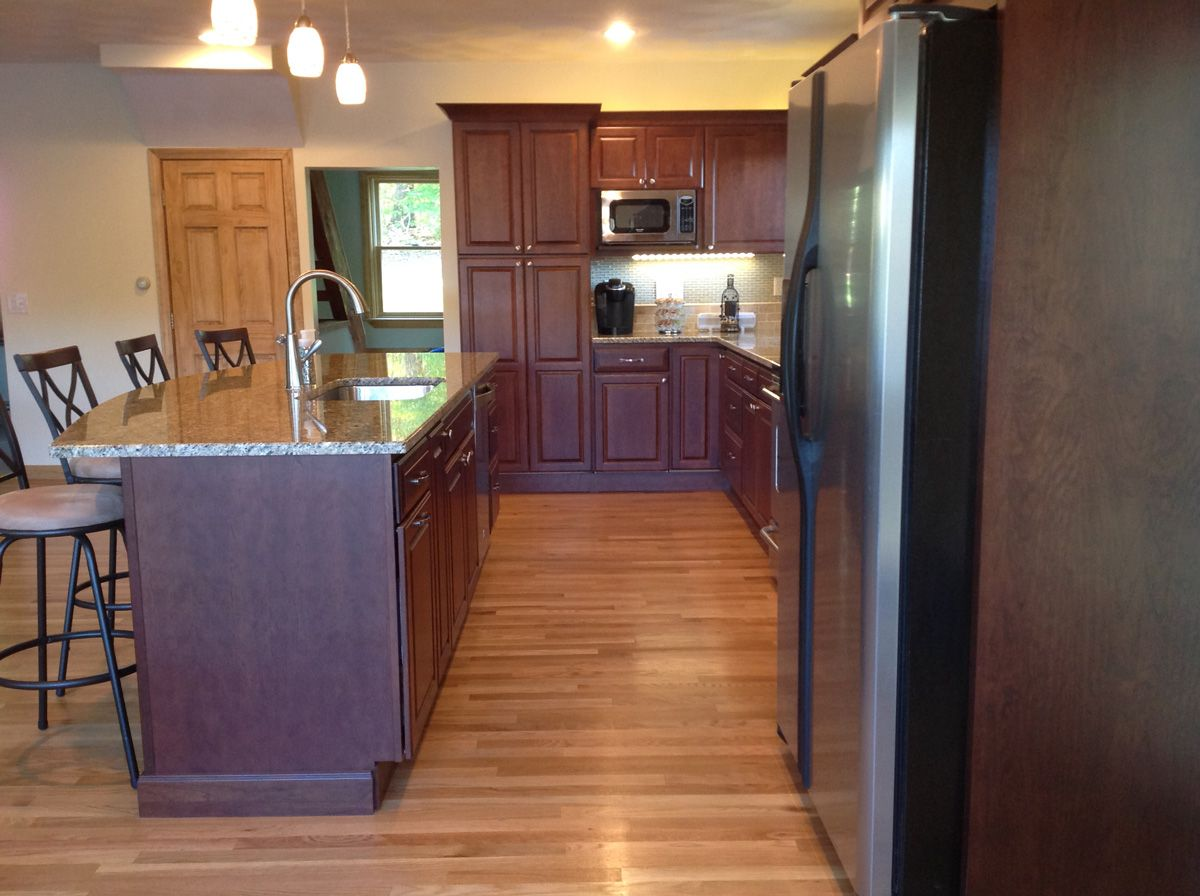 Exceptional A Kitchen Remodel In Exeter Rhode Island Went From Small And Dated To  Spacious AndA Kitchen