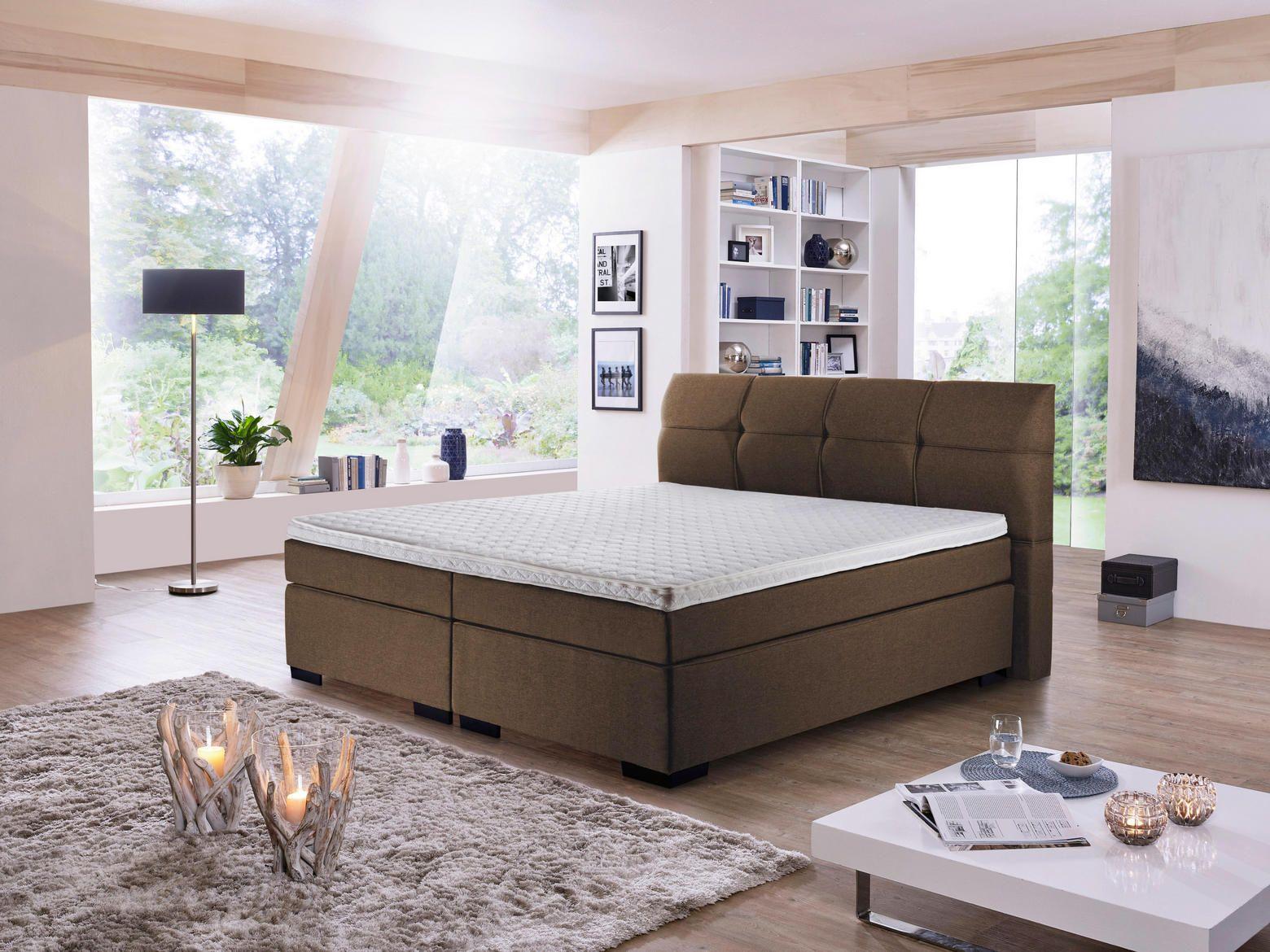 Boxspringbett 160x200 Textil Dunkelbraun Double Bed Designs Bed