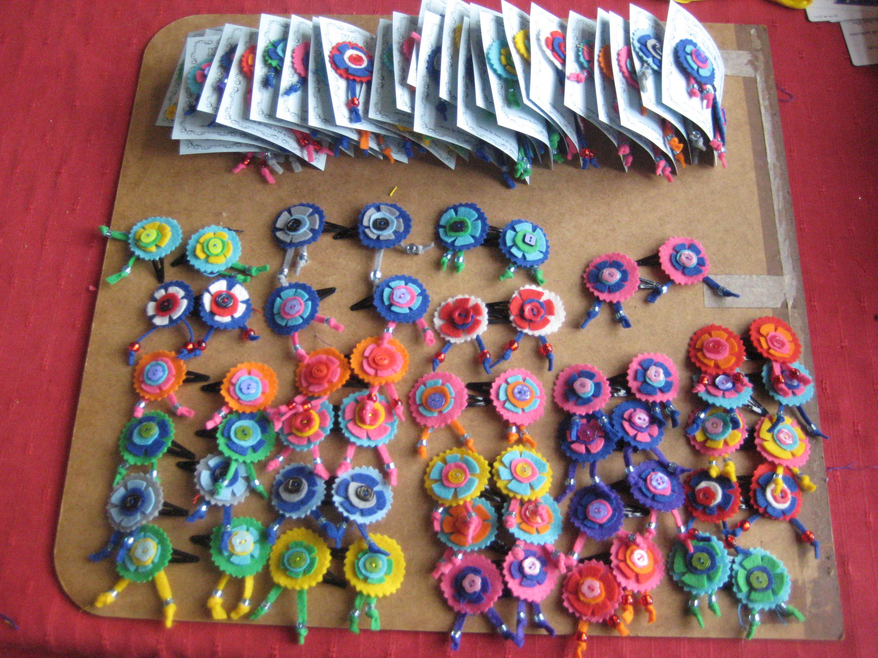 Hairclips For The School Summer Fete And My Own Craft Stall Flea