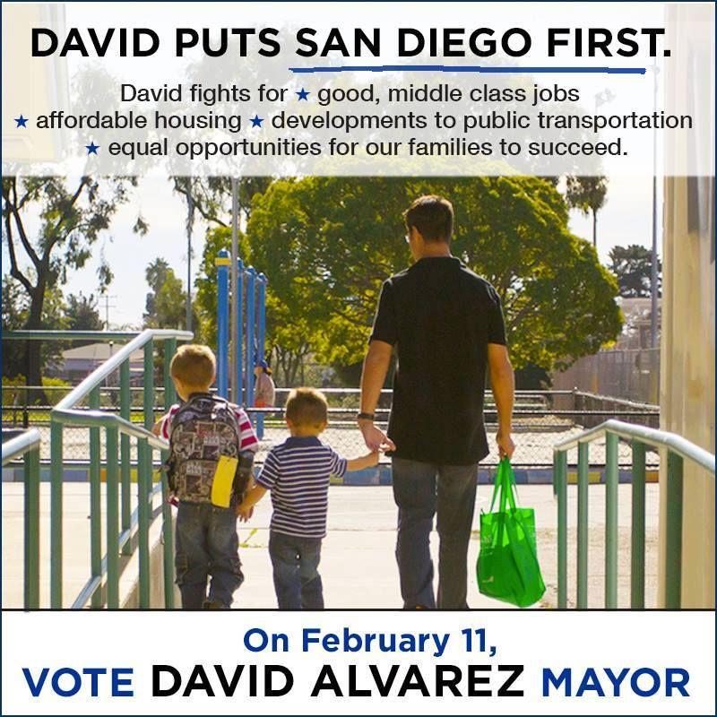 David Alvarez Putting San Diego First. David alvarez