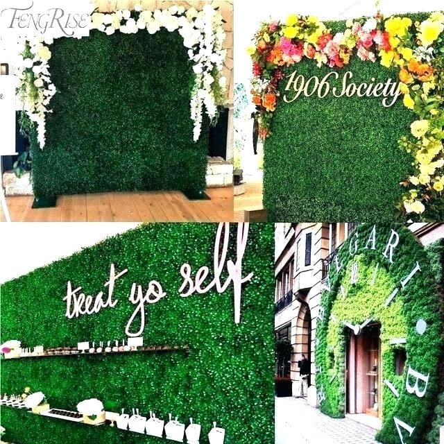 Fake Grass Decor Artificial Decoration Cost Faux