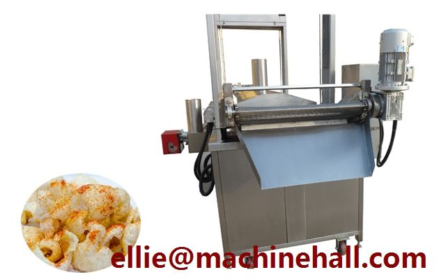 Pork Skin Frying Machine|Pork Rinds Fryer Machine For Sale Email:ellie@machinehall.com