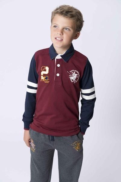 e8c25415 Santa Monica Polo Club Boys Bamford Polo Shirt Grape Front   Bamford ...