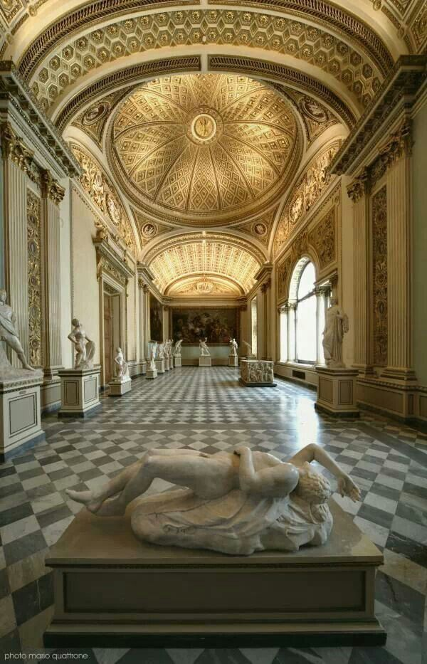 The Magnificent Uffizi Museum In Florence Considered To Be One Of Most Famous Art Museums Western World
