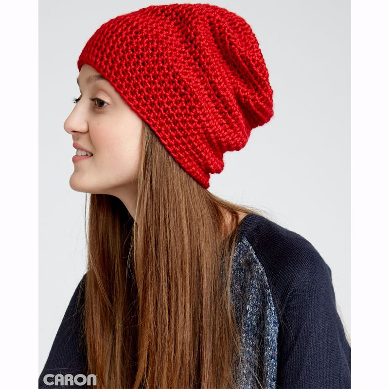 Caron Simply Soft Slouchy Beanie - free crochet patterns - hand made ...