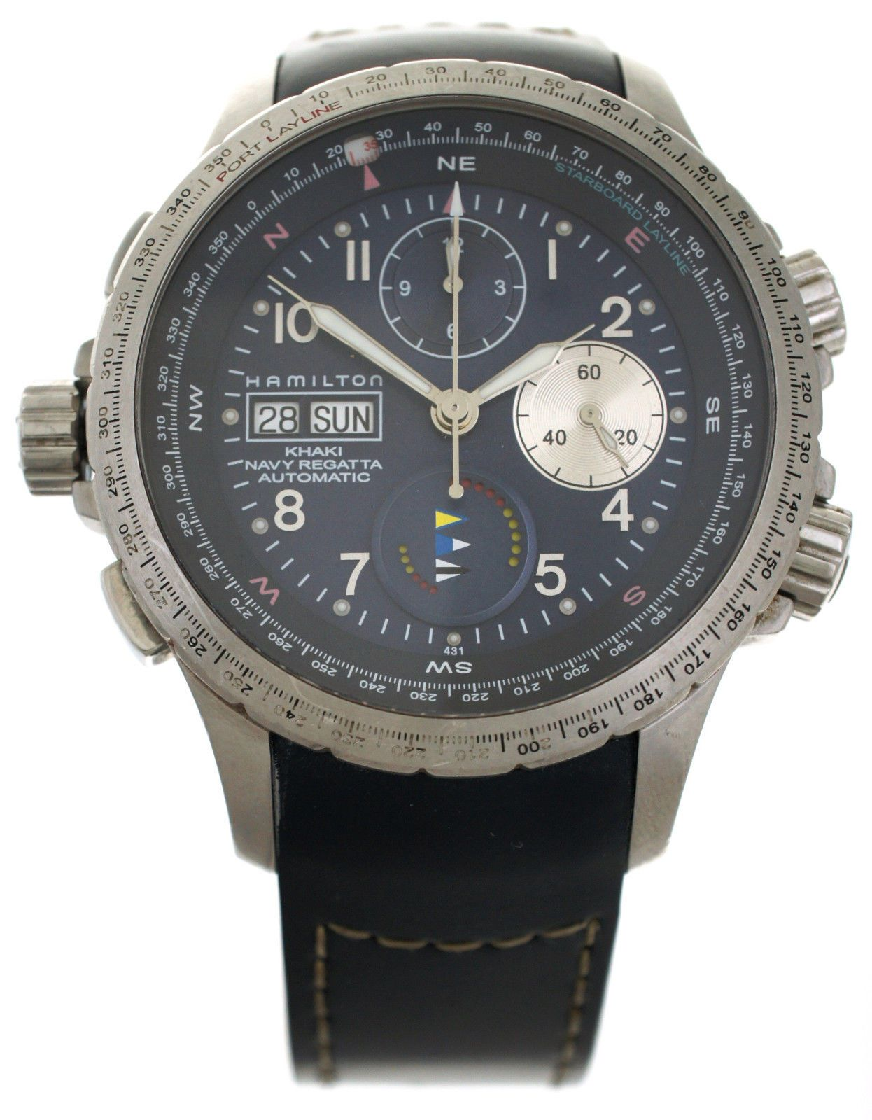 Hamilton Khaki Navy Regatta Auto Day Date Watch Chronograph H776360 H77636143 For Sale Online Hamilton Khaki Navy Automatic Watches For Men Mens Watches Black