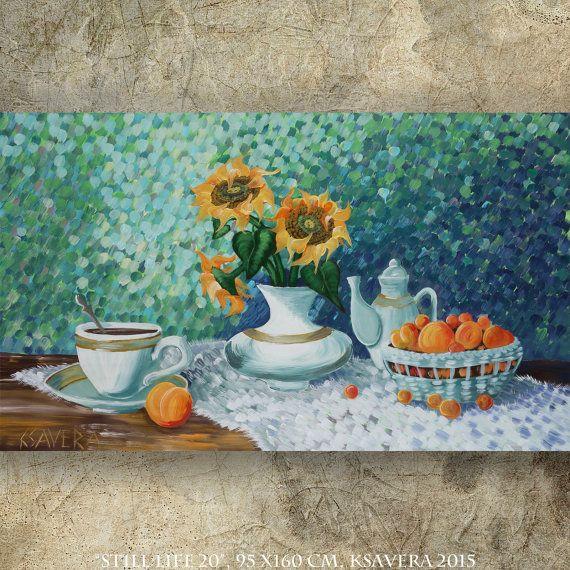 malerei stilleben sonnenblumen gem lde kaufen online von ksaveraart deutsche auf pinterest. Black Bedroom Furniture Sets. Home Design Ideas
