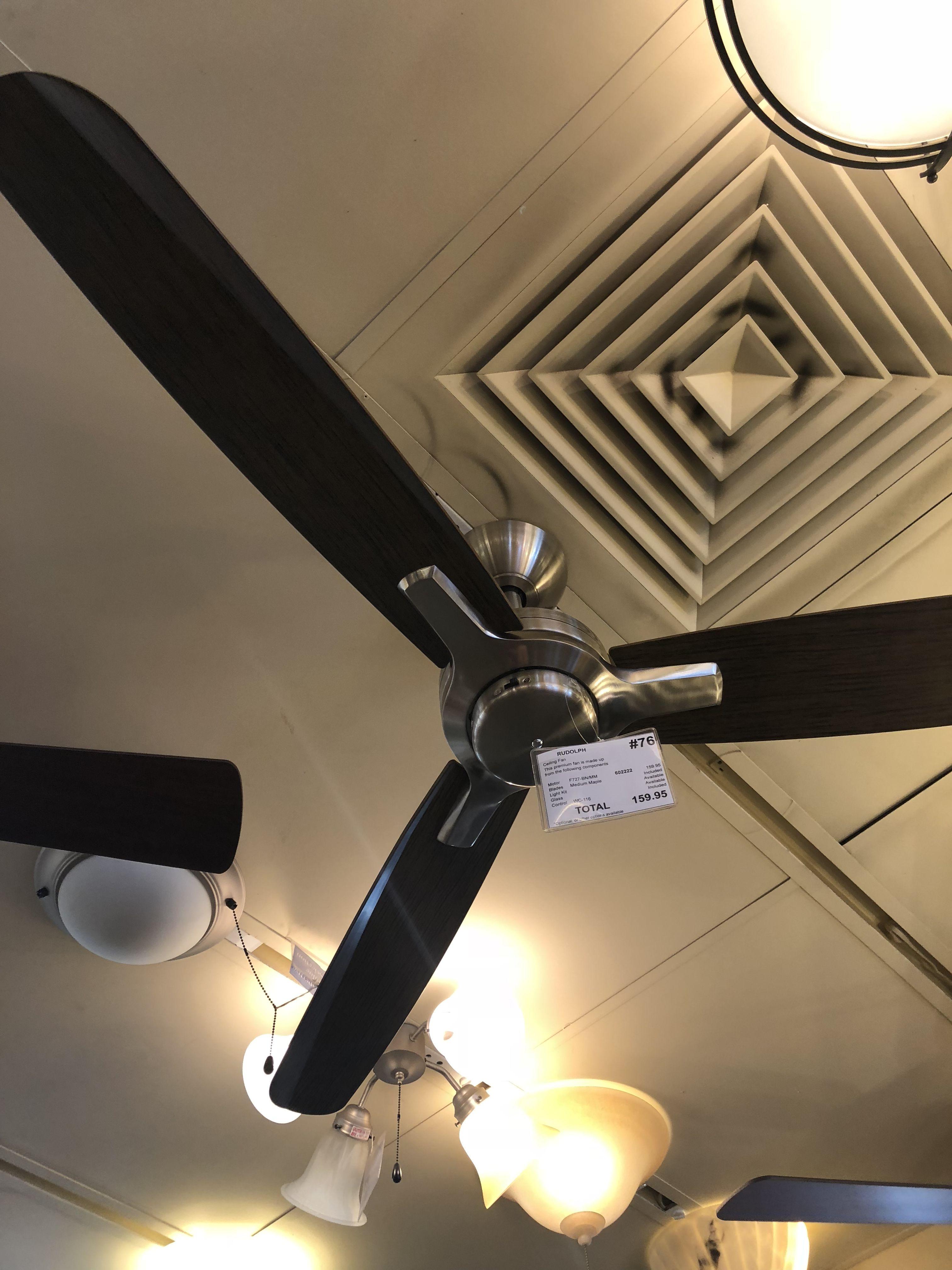 160 Builders Lighting Pacific Ridge Bedroom Fan