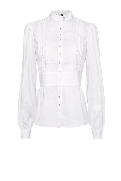 a73e94ba7 Camisa fruncidos pliegues - Mujer