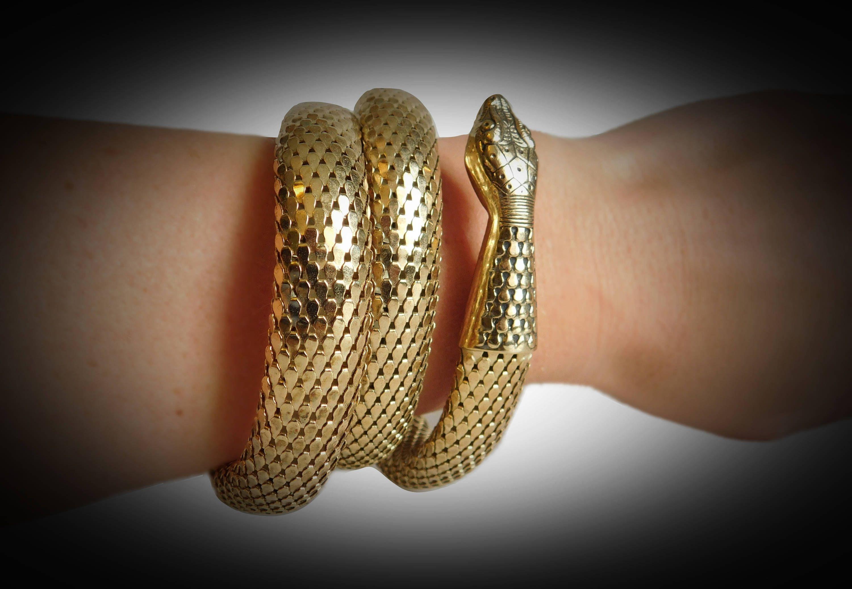 Vintage Bracelet handmade jewelry Brass Bracelet Snake Bracelet Egyptian Jewelry Snake Jewelry