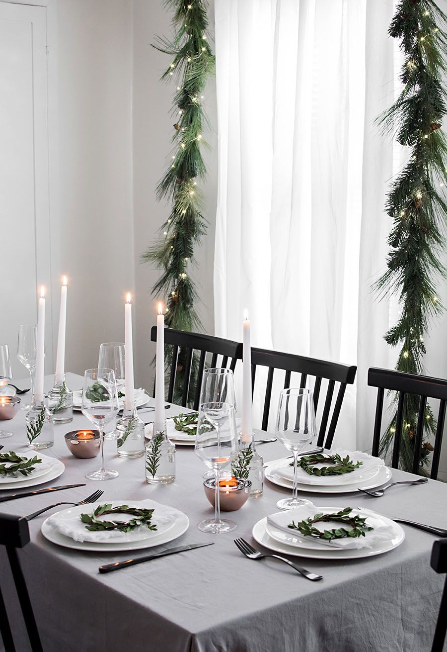 Modern Christmas Table Juldukningar Julpyssel Dukning Juldekorationer
