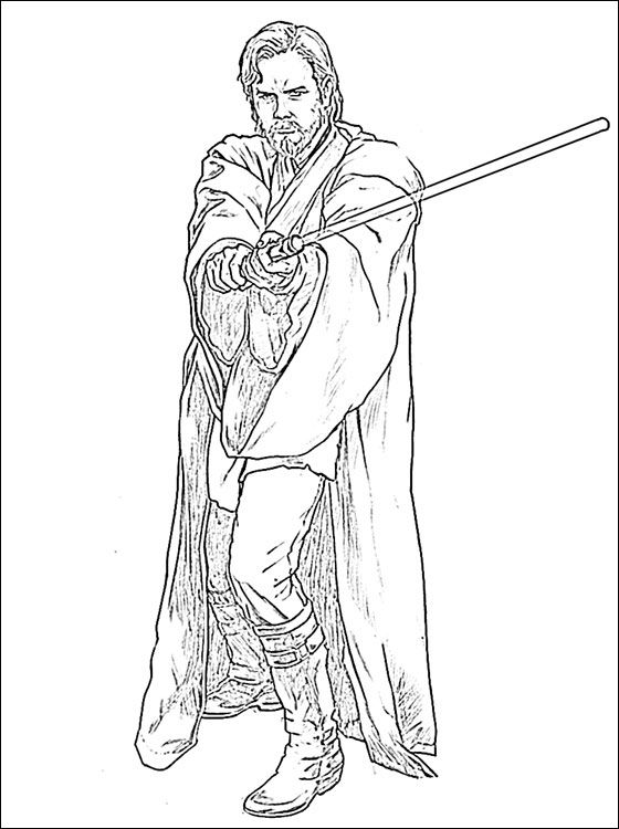 obi wan kenobi coloring pages