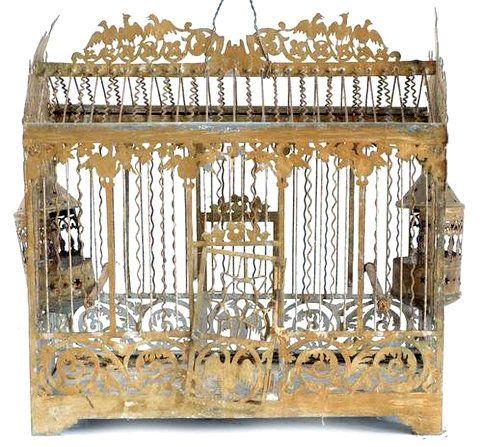 vente exceptionnelle d 39 anciennes cages oiseaux les enfants du marais birdcage. Black Bedroom Furniture Sets. Home Design Ideas