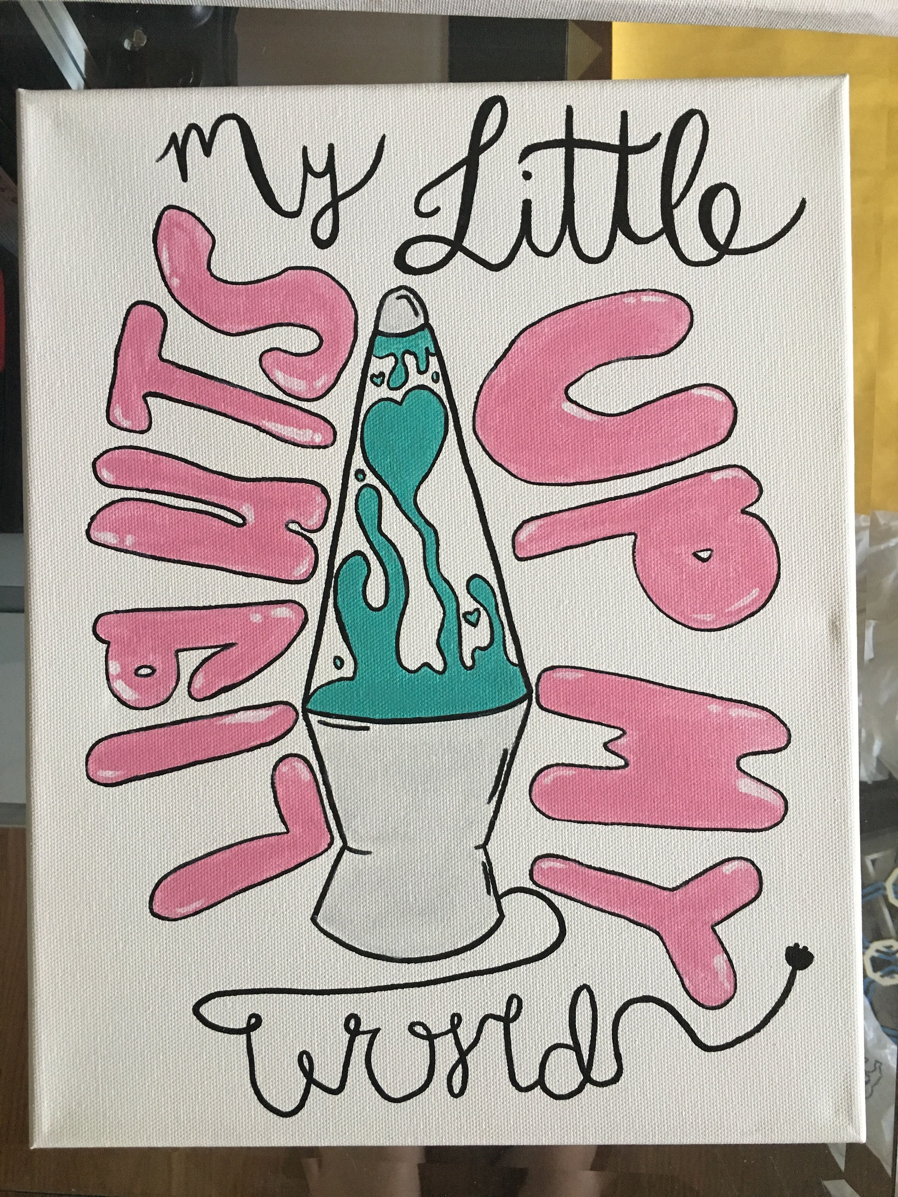 Big Little Reveal Spoils Idea sorority spirit group canvas idea #biglittlecanvas