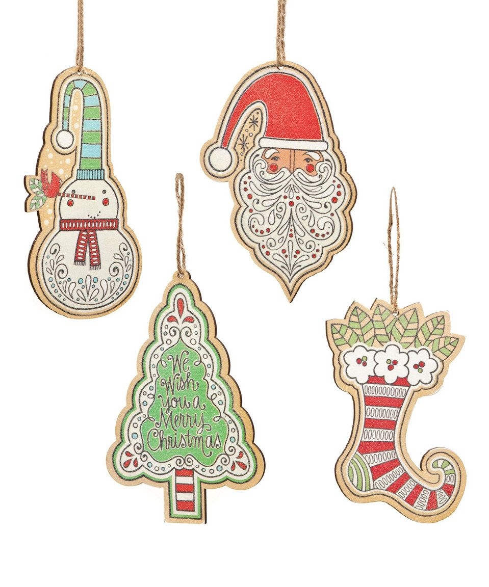 Stocking Ornament - Set of Four by  #zulily #zulilyfinds