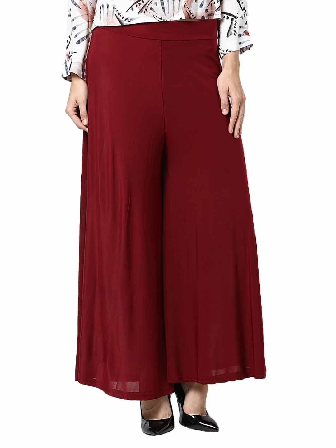 look drop dead gorgeouswearing this maroon coloured palazzo