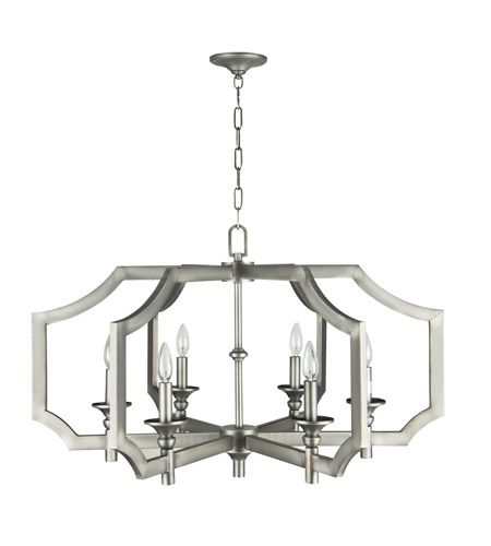 Craftmade 37316-AN Lisbon 6 Light 34 inch Antique Nickel