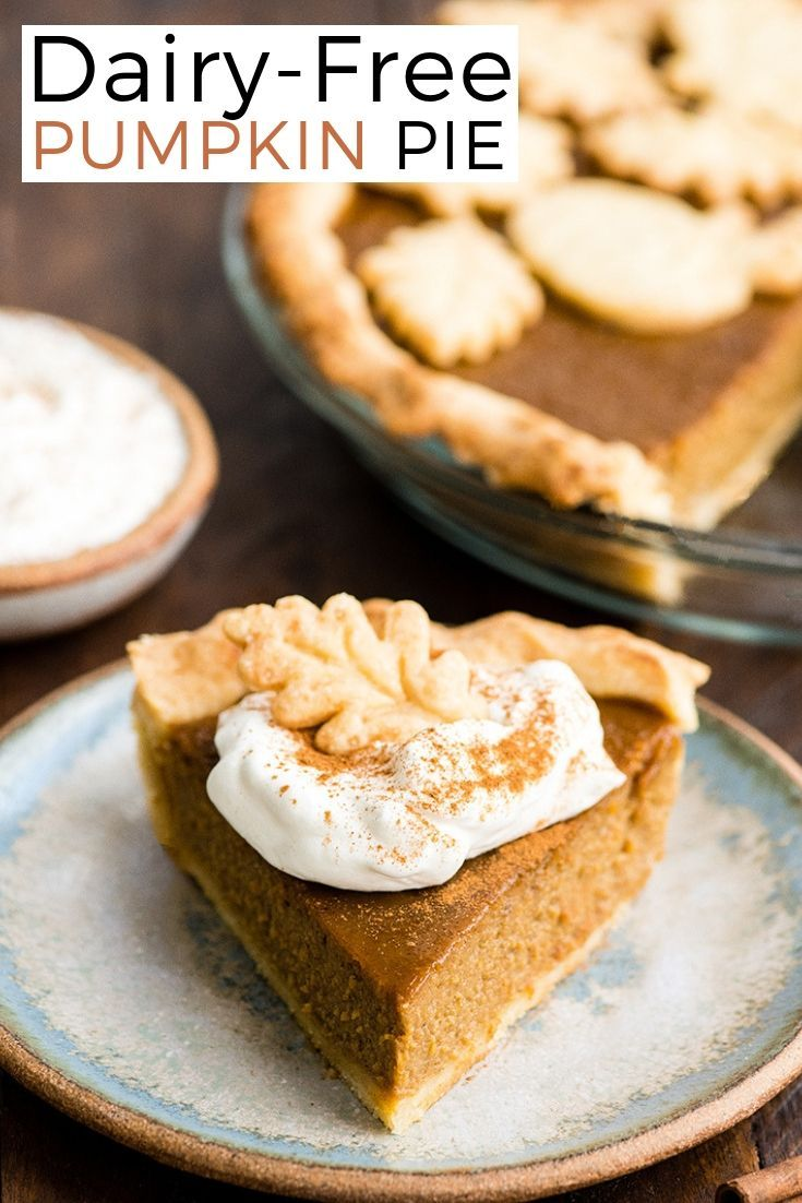 Homemade Dairy-Free Pumpkin Pie recipe from scratch