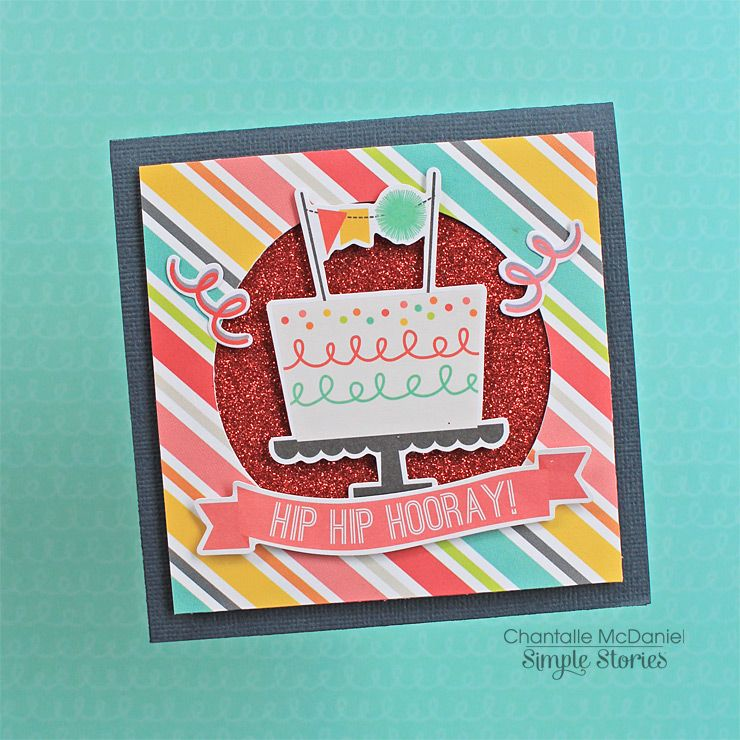 Birthday Card Scrapbook Simple Stories Pinterest