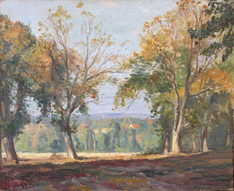 armand guillaumin 1841 1927 paysage de la creuse en automne vers 1894 huile sur toile. Black Bedroom Furniture Sets. Home Design Ideas