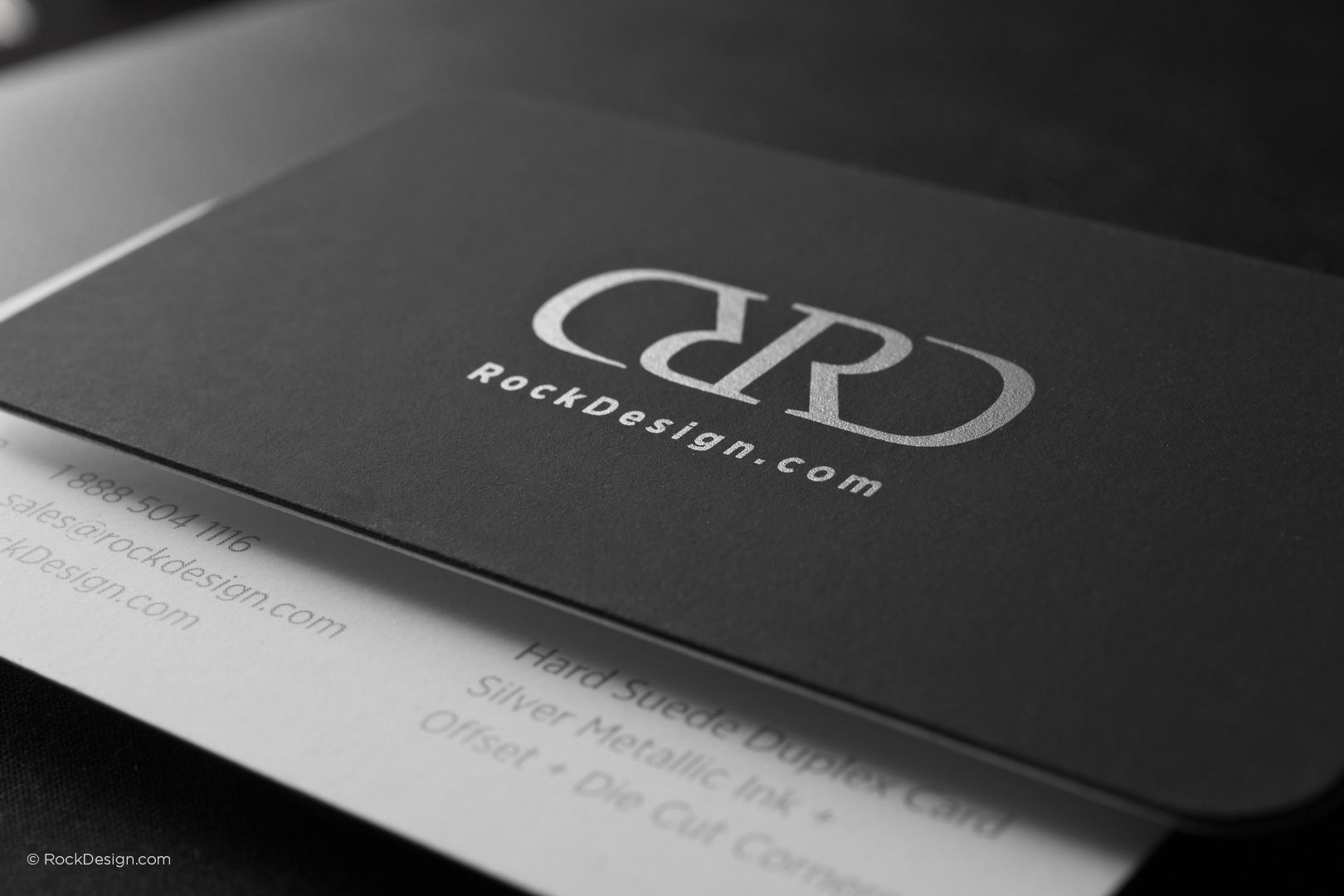 Modern black and white hard suede business card with rounded corners modern black and white hard suede business card with rounded corners rd rockdesign luxury colourmoves