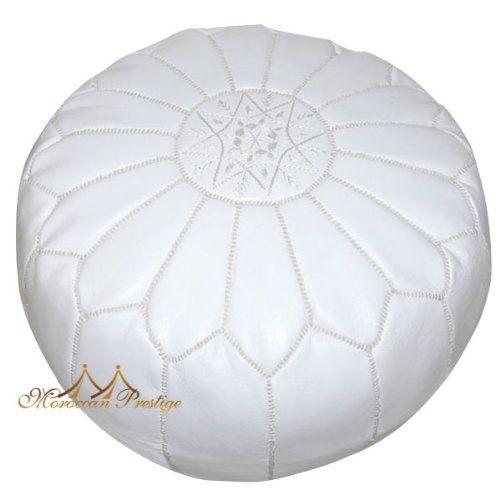 White Pouf Ottoman White Pouf Moroccan Leather Poufs & Ottoman Moroccanartisanshttp