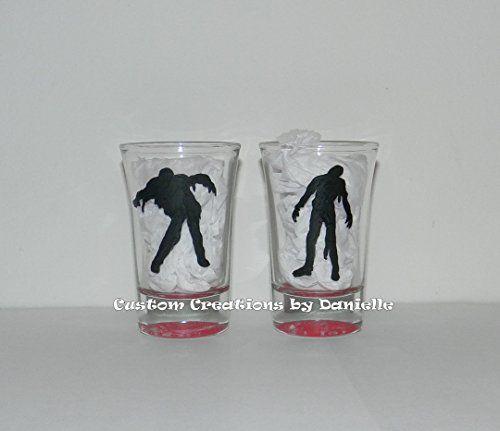 Zombies shot glass set of 2 @ niftywarehouse.com #NiftyWarehouse #Zombie #Horror #Zombies #Halloween