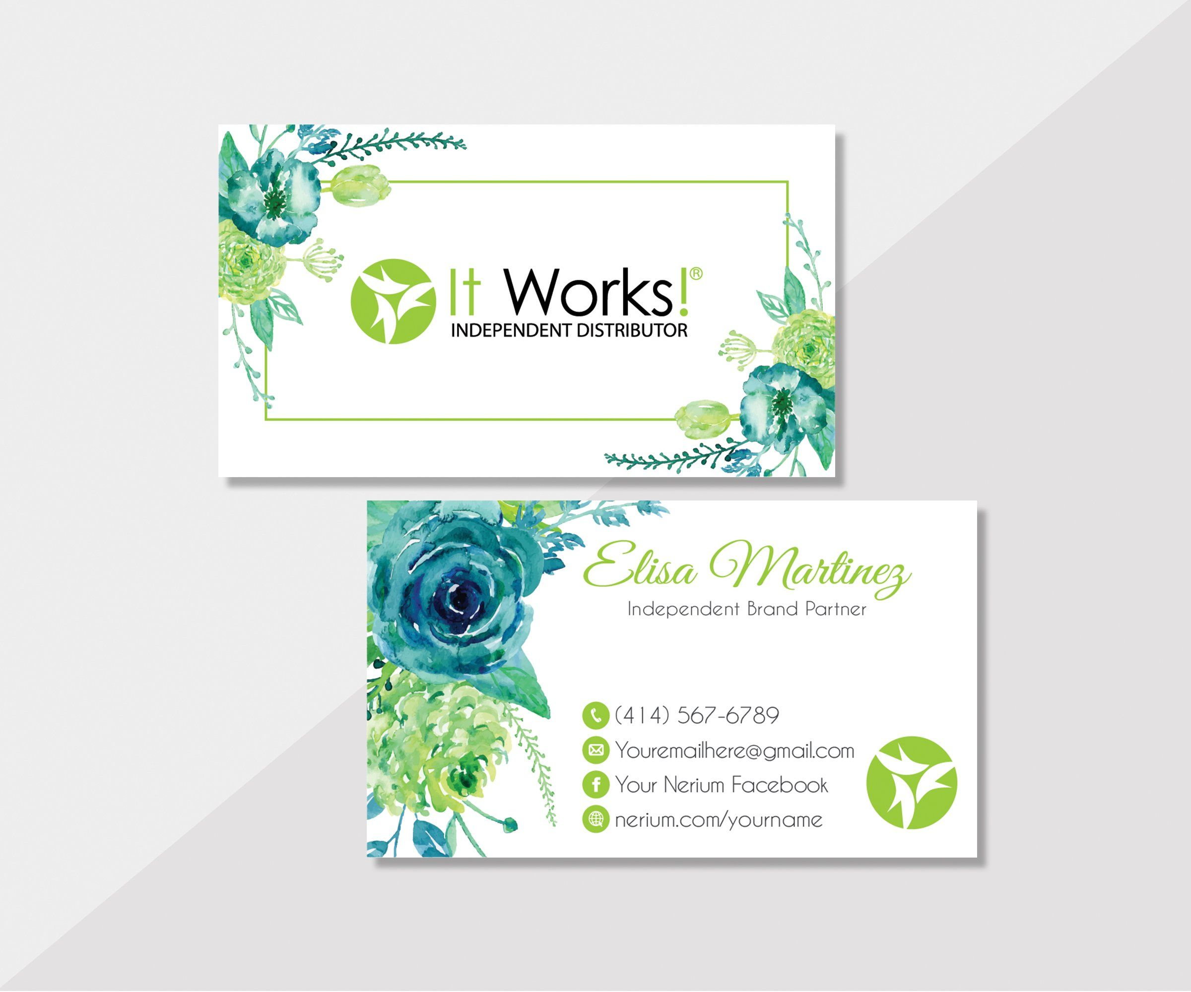 Personalized It Works Business Card It Works Business Cards Iw12 Marketing Planner It Works Global It Works