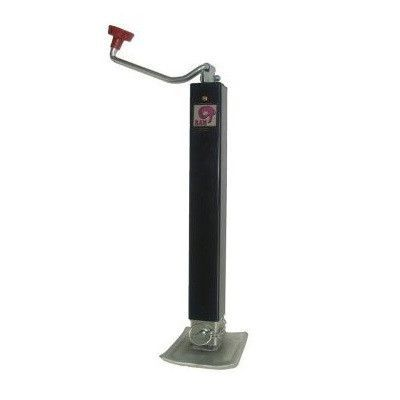 Jack, Square 8,000lb.Top Wind with Adjustable Drop Leg - Direct Weld