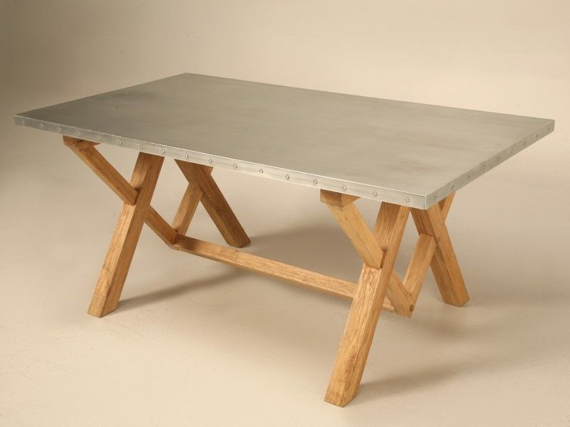 Zinc Table Top For Any Room Decor In 2020 Zinc Table Zinc Table Top Farm Dining Table