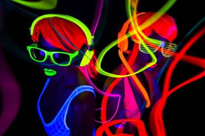 black light party from 10 cool themed parties for the new year slideshow