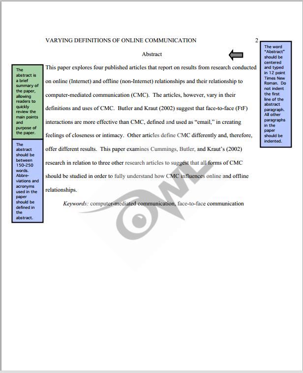 0wl Purdue Apa Sample Paper Sample Essay Apa Essay