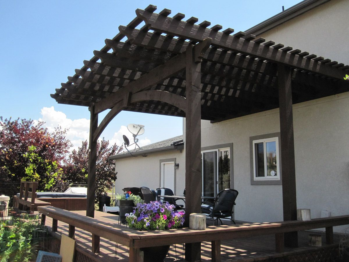 Attached diy pergola kit with mortise and tenon old world attached diy pergola kit with mortise and tenon old world craftsmanship without the use of nails solutioingenieria Image collections