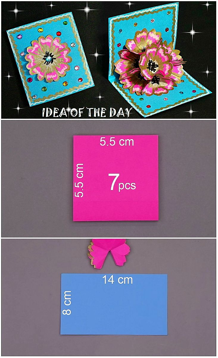 Measurements for 3d flower pop up card this measurements for 3d measurements for 3d flower pop up card this measurements for 3d flower pop up card pop up cardshandmade greetingscard tutorialsdiy kristyandbryce Images