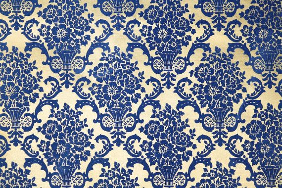Retro Flock Wallpaper By The Yard 70s Vintage Flock Wallpaper 1970s Blue Floral Roses Damask On Go Flock Wallpaper Retro Wallpaper Vintage Wallpaper Patterns