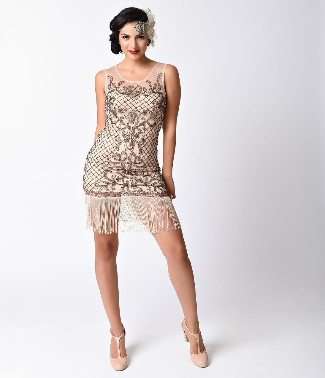 1920s Cocktail Party Dresses Verty 1920s Style Beige Filigree Sleeveless Beaded Flapper Dress Flapper Style Dresses Beige Cocktail Dresses Beaded Flapper Dress [ 1275 x 1095 Pixel ]
