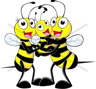bee family of three bee animals buy clip art buy rh pinterest com au Knit and Crochet Clip Art free crochet clipart images
