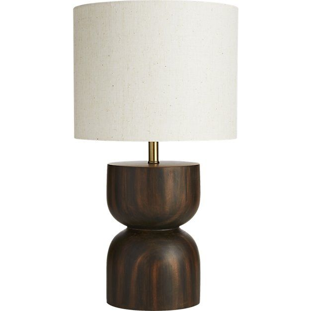 Cb2 chet wood table lamp wood table pine and woods