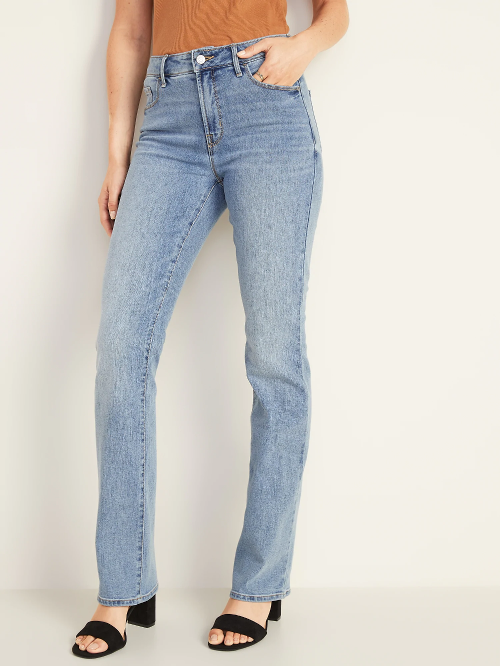 High Waisted Kicker Boot Cut Jeans For Women