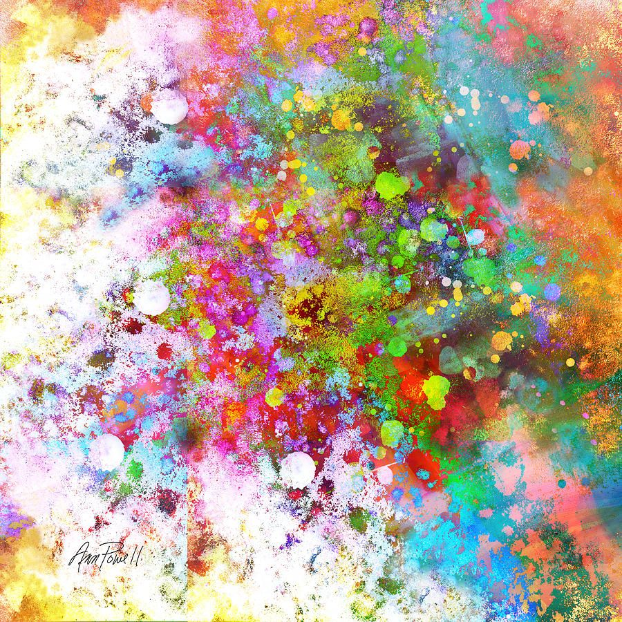 Painting Colors abstract art color splash on square paintingann powell