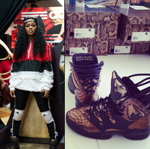 27e3b731c5a Necole Bitchie.com  Teyana Taylor Launches New Adidas Sneaker In Houston