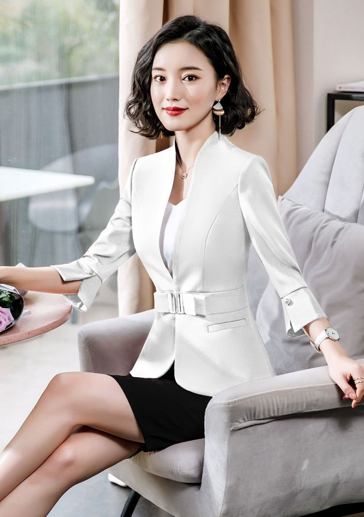 Dushicolorful Office Clothes 2019 Spring Summer Women Skirt Suits Egelant Ladies Formal Wear Two Pie Formal Wear Women Womens Skirt Suits Womens Fashion Blazer [ 1064 x 750 Pixel ]
