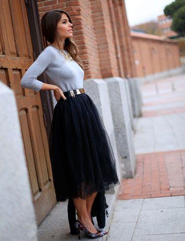 Negra Que By Moda Femenina Falda Buylevard Adoro Tul Ohkko Bw5Exqv7
