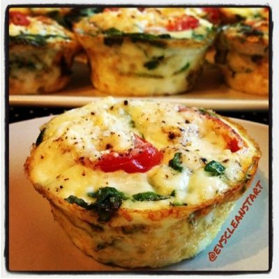 19 Calorie Tomato Arugula Feta Egg White Cups // make a big batch for snacks, lunch, breakfast via Ripped Recipes #lowcarb #prepday #freezerfriendly