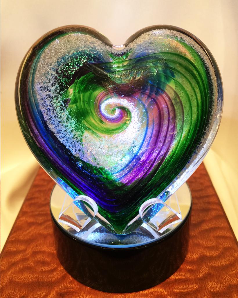 Acrylic Fish Stand Blown Glass Art Glass Art Hand