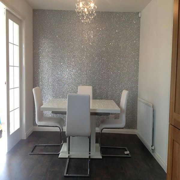 Glitter Wallpaper For Home Home Glitter Wall Decor